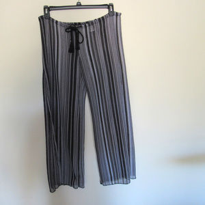 Becca By Rebecca Small Beach Cover-Up Pants Blk/Wh